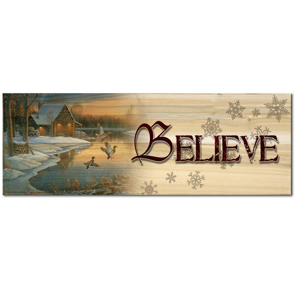 Holiday Believe Graphic Art Plaque by WGI-GALLERY