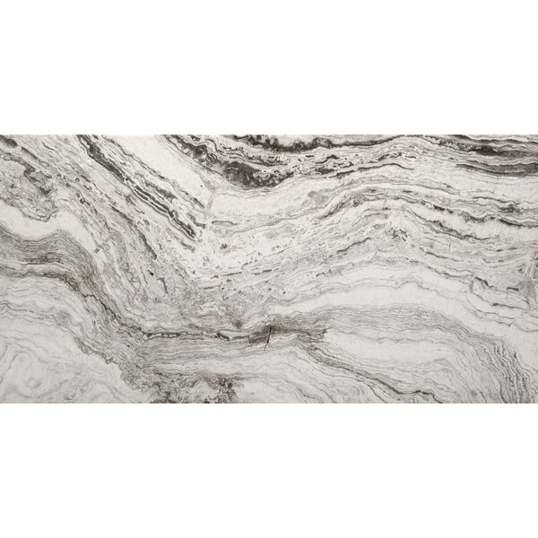 Pergamo 12 x 24 Porcelain Field Field Tile in Bianco by Emser Tile