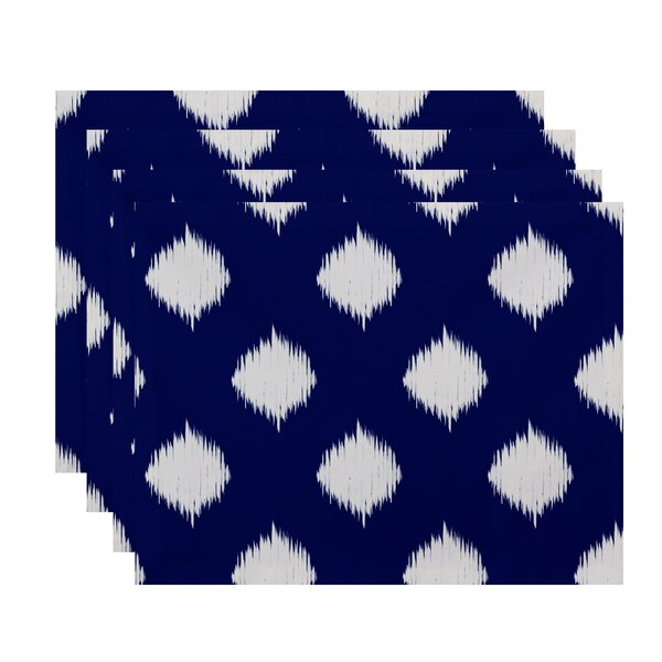 Ikat Dot Geometric Placemat (Set of 4) by e by design