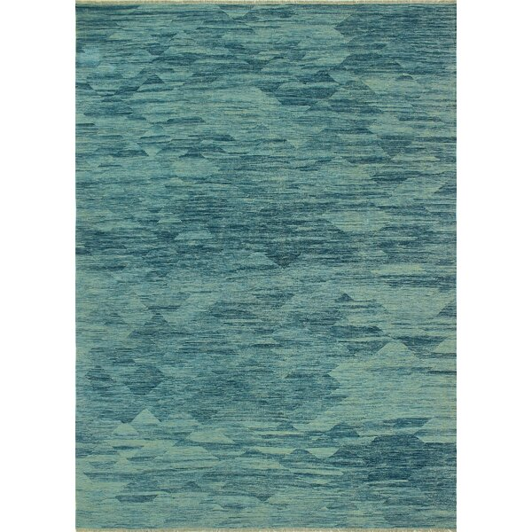 One-of-a-Kind Priston Hand-Woven Wool Blue Area Rug by Loon Peak