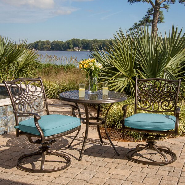Barrowman 3 Piece Bistro Set with Cushions by Darby Home Co Darby Home Co