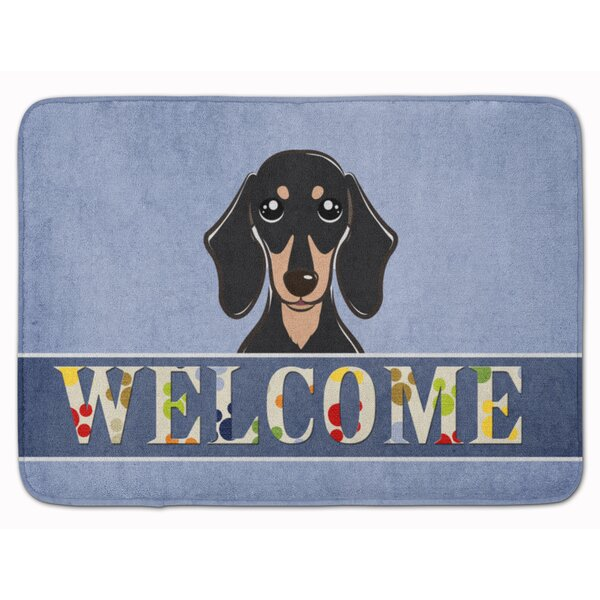 Dachshund Welcome Memory Foam Bath Rug by East Urban Home