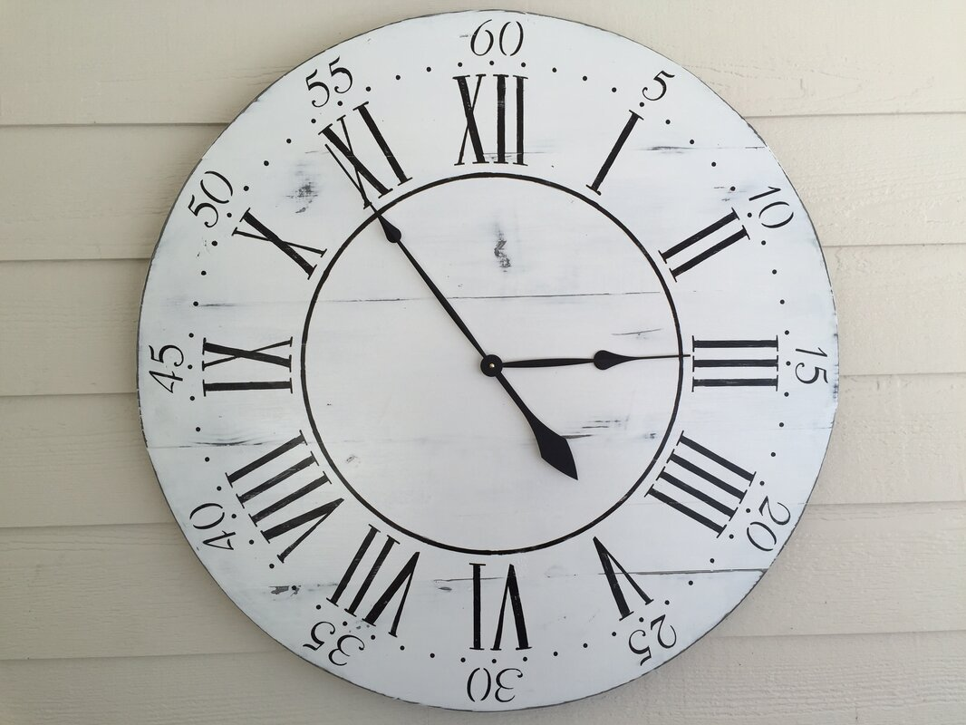 Essex hand crafted wood products oversized 36 chalkwell vintage oversized 36 chalkwell vintage style painted wood wall clock amipublicfo Image collections