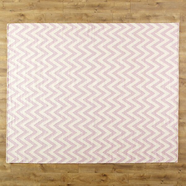 Moves Like Zigzagger Pink Area Rug by Birch Lane Kids™