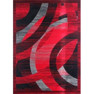 Reviews Barnsley Black/Red/Gray Area Rug ByOrren Ellis