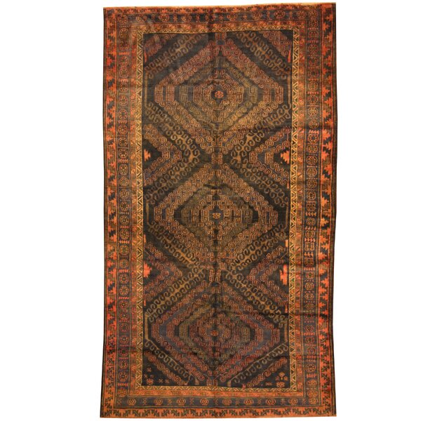 Prentice Hand-Knotted Navy Area Rug by Isabelline
