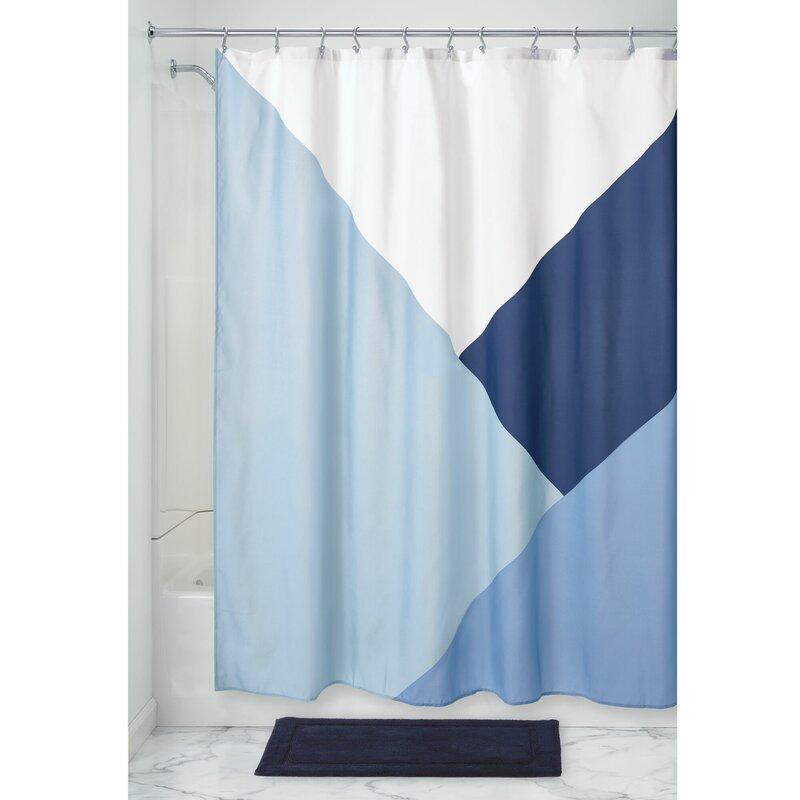 Geometry Stripe Chevron Rainbow Color Bathroom Fabric Shower Curtain /& 12 Hooks