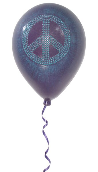 Girly Chic Permanent Peace Sign Balloon 3D Wall Décor by Metrotex Designs