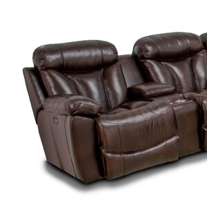 Brook Wescott Leather Reversible Reclining Sectional Latitude Run