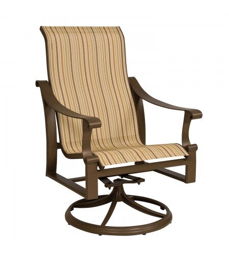 Bungalow Swivel Patio Dining Chair by Woodard