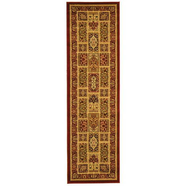 Barton Red Area Rug by Astoria Grand