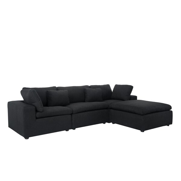 Buy Online Cheap Vernet Right Hand Facing Modular Sectional by Wrought Studio by Wrought Studio