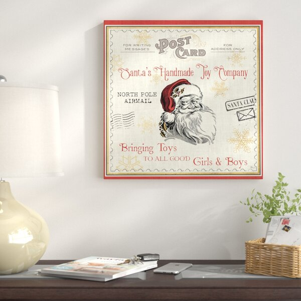 North Pole Express Graphic Art on Wrapped Canvas b
