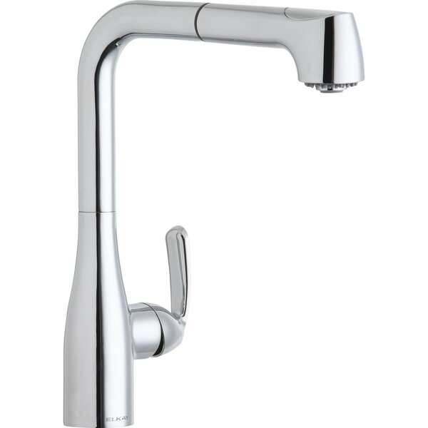 Gourmet Pull Out Single Handle Kitchen Faucet by Elkay