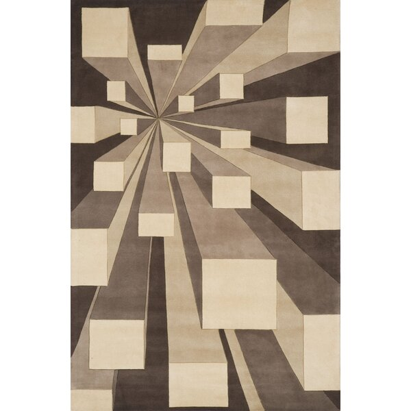 Rita Hand-Tufted Beige/Brown Area Rug by Wrought Studio