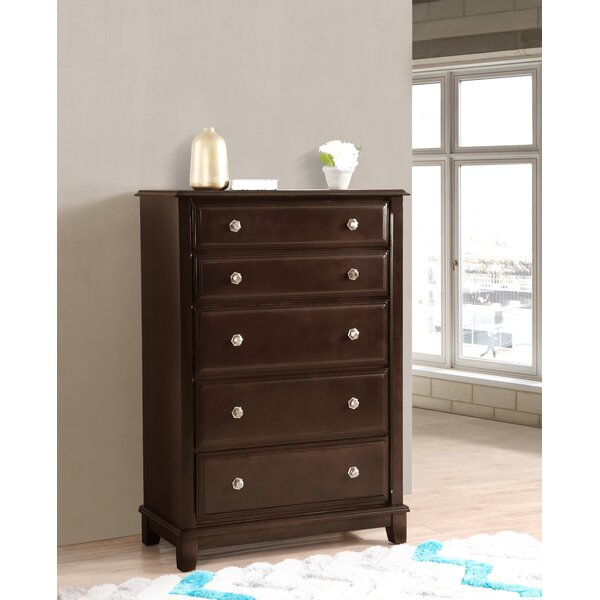 Holzman 5 Drawer Chest by Alcott Hill