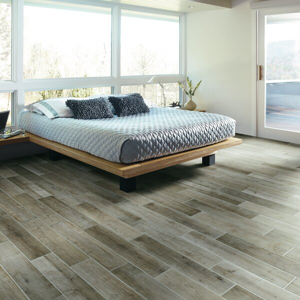 County Line 12 x 36 Porcelain Field Tile in Pewter by PIXL