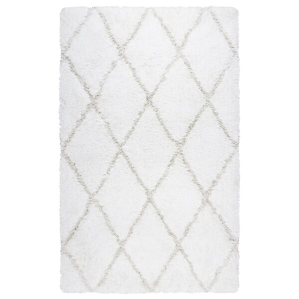 Beesley Hand-Tufted Tan/White Area Rug by Ivy Bronx