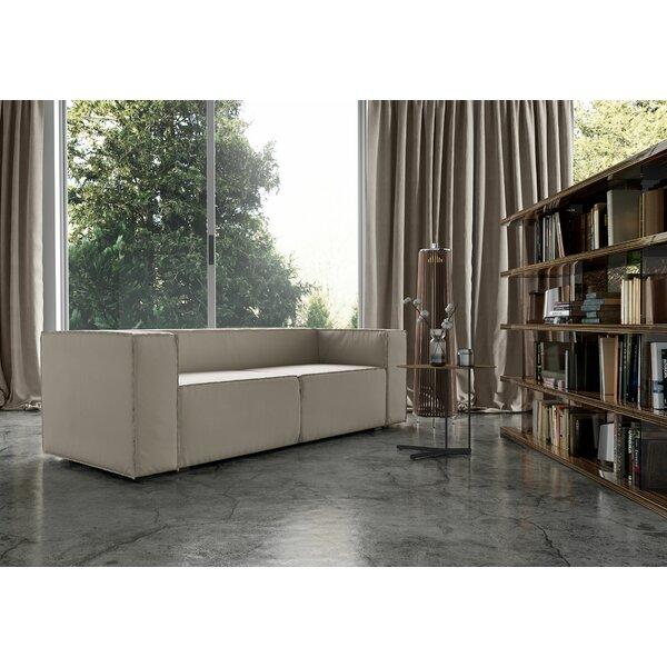 Dominick Genuine Leather Sofa Bed By Modloft Black