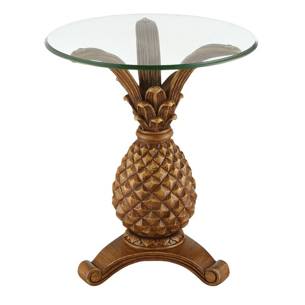 Richardson Pineapple End Table by Bay Isle Home