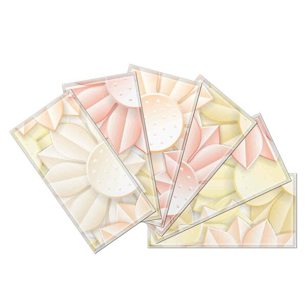 Crystal 3 x 6 Beveled Glass Subway Tile in Pink/Brown by Upscale Designs by EMA