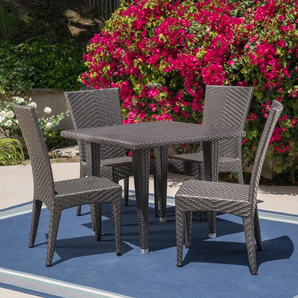 Mebane Outdoor 5 Piece Dining Set by Wrought Studio