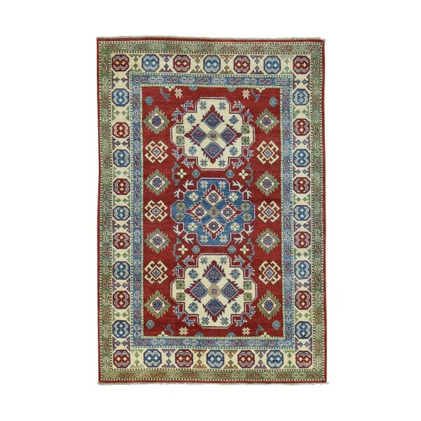 One-of-a-Kind Tillotson Hand-Knotted Red/Blue Area Rug by Millwood Pines