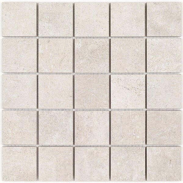 Malaga 2 x 2 Porcelain Mosaic Tile in Sand by Splashback Tile