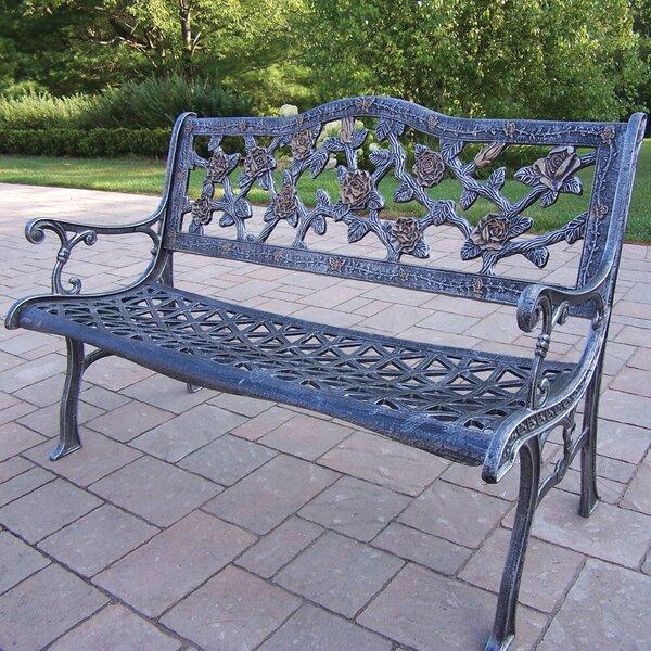 Mcgreevy English Rose Aluminum Bench by Astoria Grand
