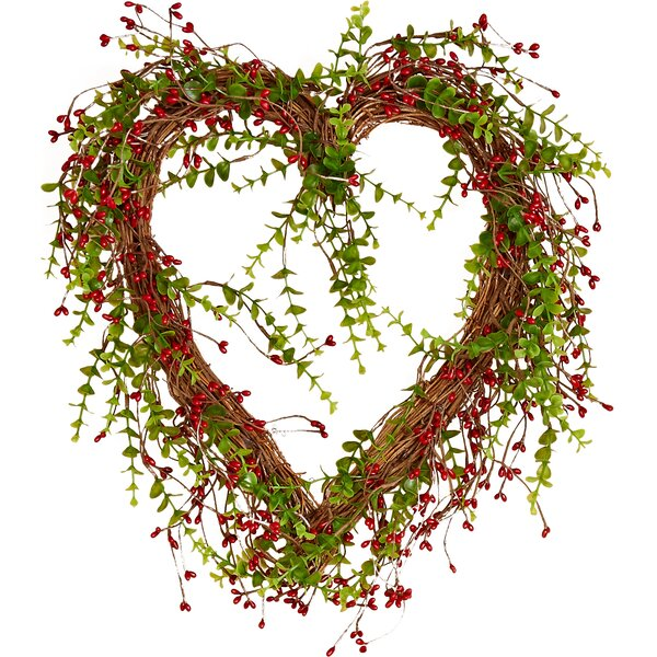 Berry Heart 8 Wreath By Worth Imports.