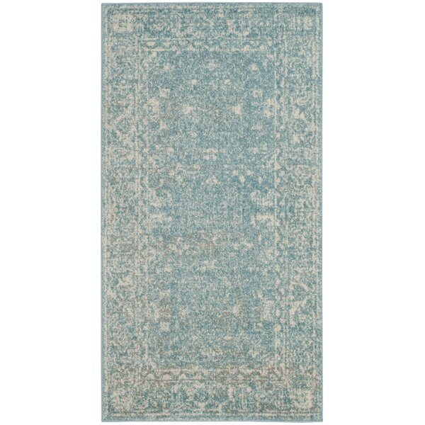 Melia Light Blue/Ivory Area Rug by Lark Manor