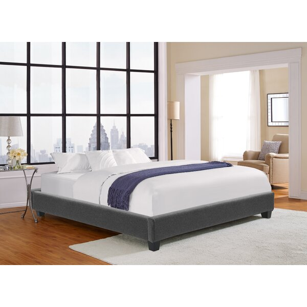 Leavell Upholstered Platform Bed by Ebern Designs