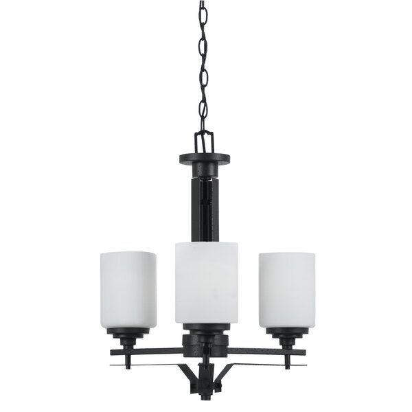 Westhampton 3 - Light Shaded Wagon Wheel Chandelier by Latitude Run Latitude Run