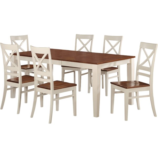 Loraine 7 Piece Extendable Solid Wood Dining Set by Red Barrel Studio