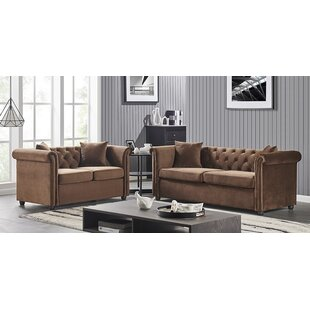 Lewter 2 Pc Living Room Set-Brown by Canora Grey