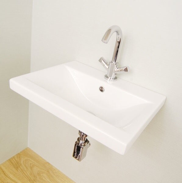 Clever Ceramic 32 Wall Mount Bathroom Sink with Overflow by Althea by Nameeks