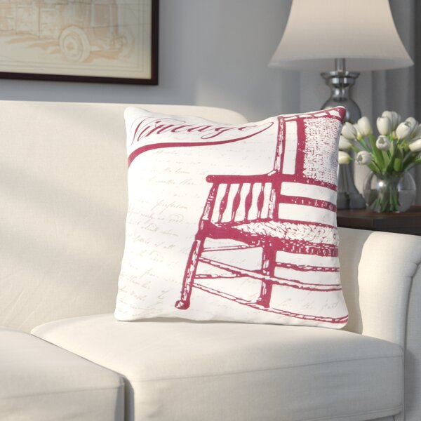 Vandalia Vintage Cotton Throw Pillow by Charlton Home
