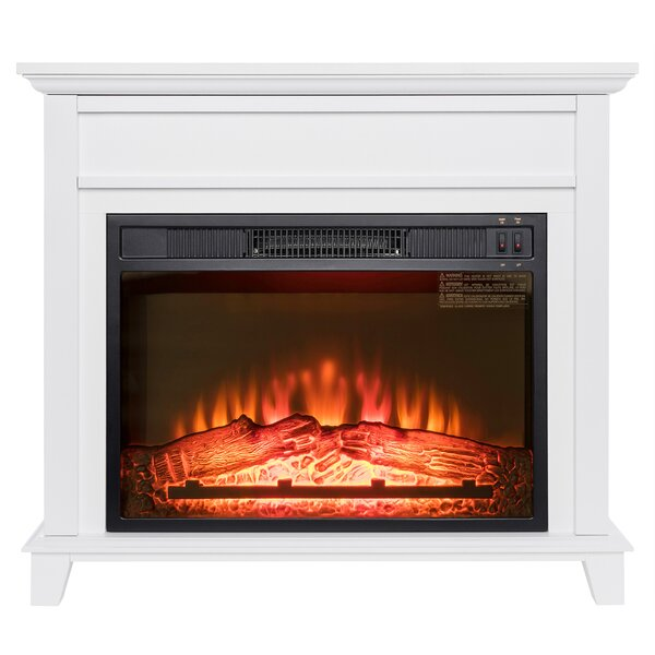 Freestanding Wooden Mantel 3D Flames Electric Fire