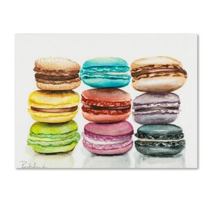 9 Macarons Painting Print on Wrapped Canvas by Mercury Row