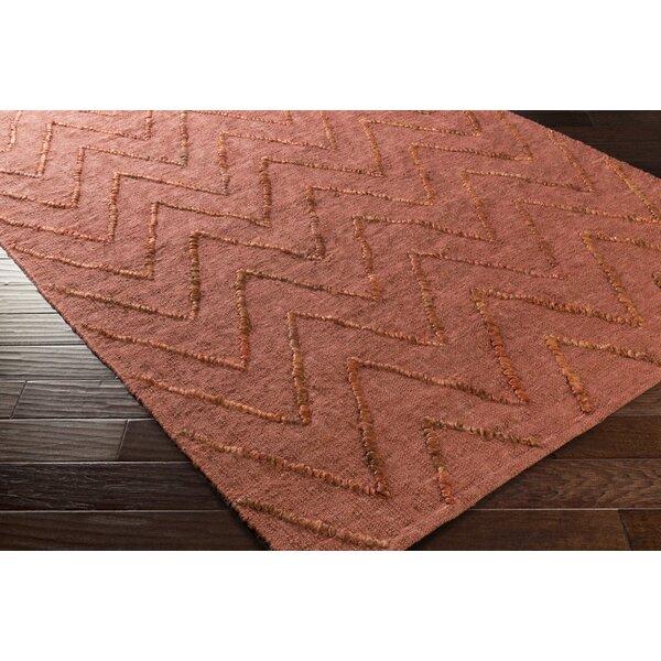Rachelle Hand-Woven Rust Area Rug by Zipcode Design