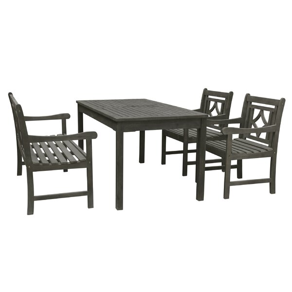 Andromeda 4 Piece Patio Dining Set by Beachcrest Home