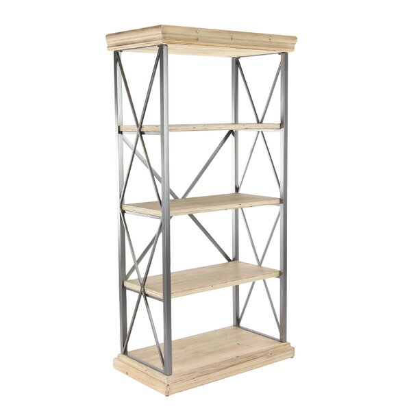 Lykens Modern 4-Tier Etagere Bookcase by Gracie Oaks
