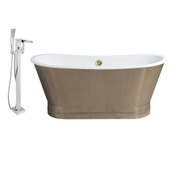 Cast Iron 67 x 27 Freestanding Soaking Bathtub by Streamline Bath