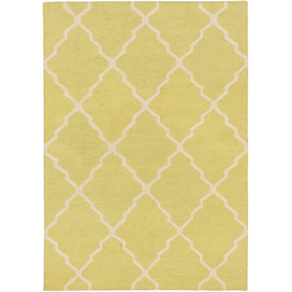 Hartland Hand-Tufted Wool Ivory Area Rug by Mercer41