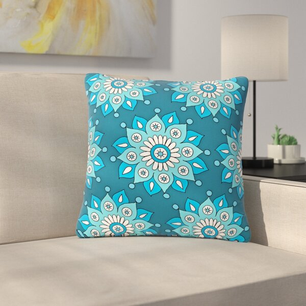 Sarah Oelerich Flower Burst Outdoor Throw Pillow by East Urban Home