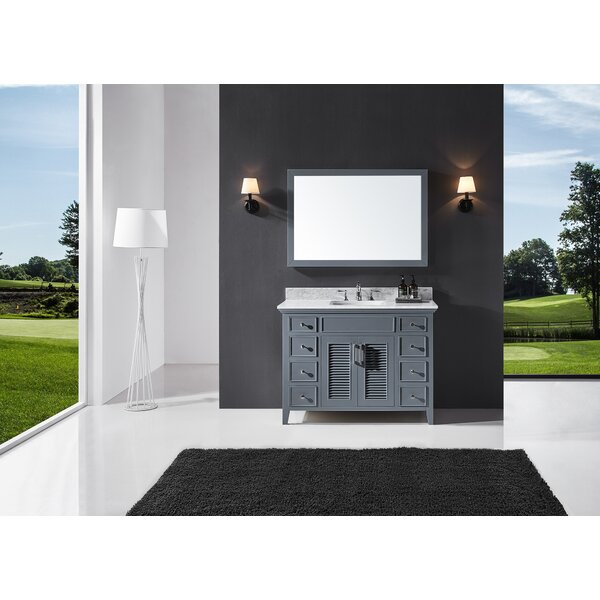 Magdalen 48 Single Bathroom Vanity Set with Mirror
