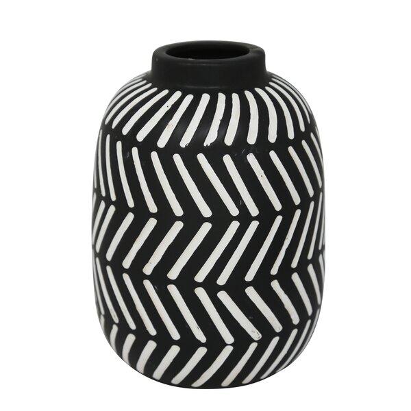 Byrd Ceramic Tribal Table Vase by Union Rustic