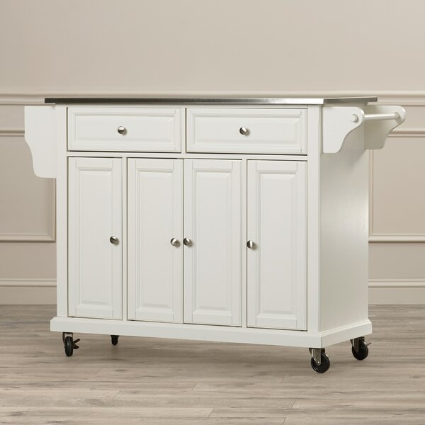 Chan Kitchen Island with Stainless Steel Top by Darby Home Co