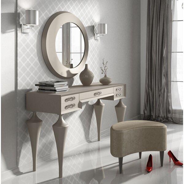 Kirkwood Bedroom Makeup Vanity Set with Mirror