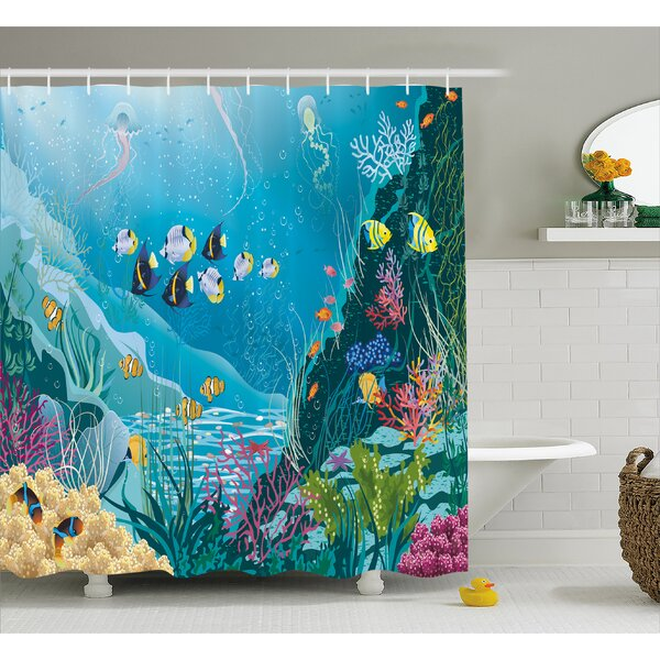 Underwater Landscape Decor Shower Curtain by East Urban Home